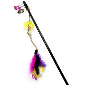 Karlie-Flamingo Ball&Feathers КАРЛИ-ФЛАМИНГО игрушка дразнилка для кошек