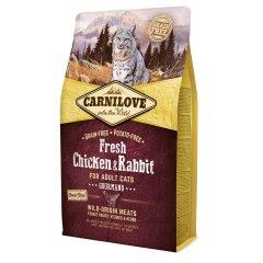 Сухой корм для взрослых кошек Carnilove Fresh Chicken & Rabbit 2 кг (курица и кролик)
