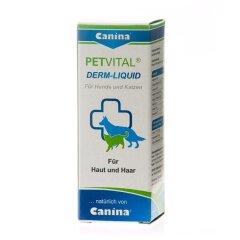 Витамины для кошек и собак Canina «PETVITAL Derm-Liguid» 25 мл (для кожи и шерсти)