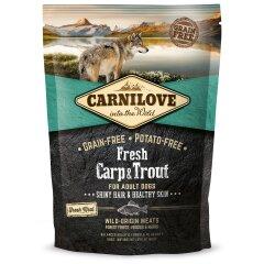 Сухой корм для взрослых собак всех пород Carnilove Fresh Carp & Trout 1,5 кг (рыба)
