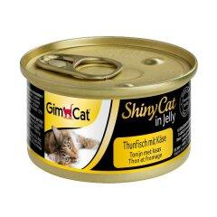Влажный корм для кошек GimCat Shiny Cat 70 г (тунец и сыр)