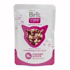 Влажный корм для кошек Brit Care Cat Chicken & Duck pouch 80 г (курица и утка)