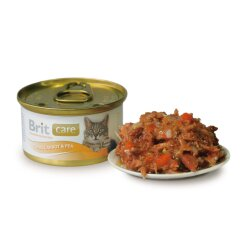 Влажный корм для кошек Brit Care Cat Tuna, Carrot & Pea 80 г (тунец, морковь и горох)