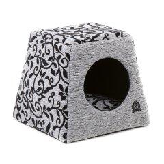 Домик-трансформер Pet Fashion «Оскар» 36 см / 36 см / 24 см (серый)