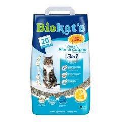 Наполнитель туалета для кошек Biokat's Classic Fresh 3in1 Cotton Blossom 5 кг (бентонитовый)