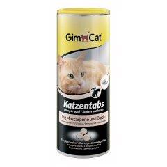 Лакомство для кошек GimCat Katzentabs Mascarpone & Biotion 425 г (для кожи и шерсти)
