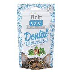 Лакомство для кошек Brit Care Functional Snack Dental 50 г (для зубов)