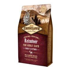 Сухой корм для активных кошек Carnilove Cat Raindeer — Energy & Outdoor 2 кг (оленина и кабан)