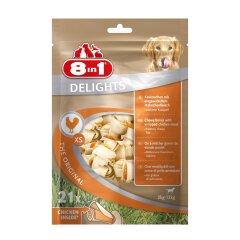 Лакомство для собак 8in1 Delights Кость прессованная 7 см, 252 г / 21 шт. (курица)