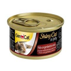 Влажный корм для кошек GimCat Shiny Cat 70 г (курица, креветки и солод)