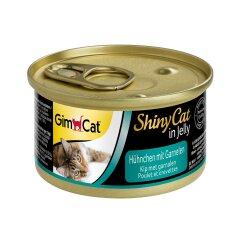 Влажный корм для кошек GimCat Shiny Cat 70 г (курица и креветки)