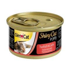 Влажный корм для кошек GimCat Shiny Cat 70 г (лосось и тунец)