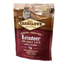 Сухой корм для активных кошек Carnilove Cat Raindeer — Energy & Outdoor 400 г (оленина и кабан)