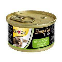Влажный корм для кошек GimCat Shiny Cat 70 г (курица и папайа)