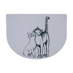 Коврик под миску Trixie «Pussy Cat» 40 см / 30 см (серый)