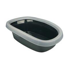 Туалет для кошек Trixie с бортиком «Carlo» 38 x 17 x 58 см (пластик)