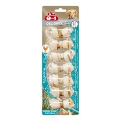 Лакомство для собак 8in1 Delights Кость для чистки зубов Pro Dental 7 см, 84 г / 7 шт. (курица)