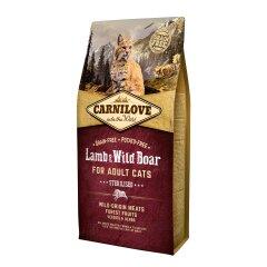 Сухой корм для стерилизованных кошек Carnilove Cat Lamb & Wild Boar — Sterilised 6 кг (ягненок и кабан)