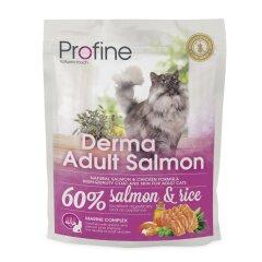 Сухой корм для кошек, шерсть которых требует дополнительного ухода Profine Cat Derma 300 г (лосось)