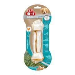Лакомство для собак 8in1 Delights Кость для чистки зубов Pro Dental 20 см, 85 г (курица)
