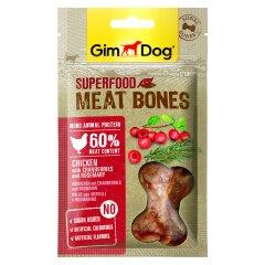 Лакомство для собак GimDog Superfood Meat Bones 70 г (курица, клюква и розмарин)