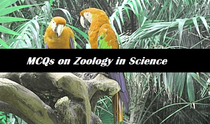 MCQs on Zoology in Science Multiple Choice Questions and Answers