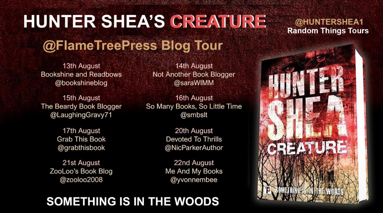 #BookReview of Creature by Hunter Shea @huntershea1 @annecater @flametreepress #randomthingtours