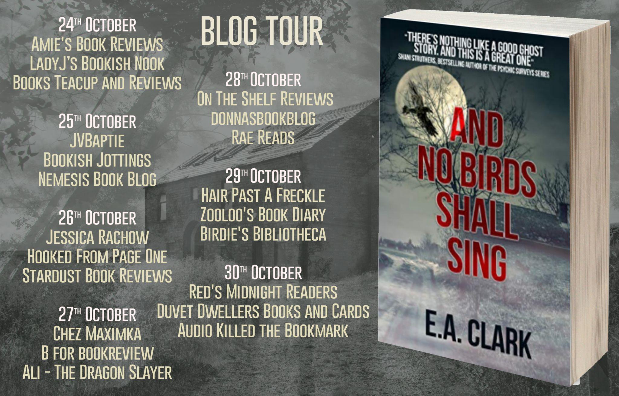 #BookReview of And No bird shall sing by E.A Clark @EAClarkAuthor @rararesources @crookedcatbooks #AndNoBirdsShallSing
