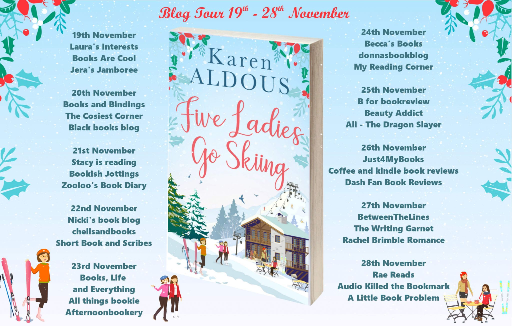 #Excerpt from Five Ladies Go Skiing by Karen Aldous @KarenAldous_ @rararesources @HQDigitalUK #giveaway