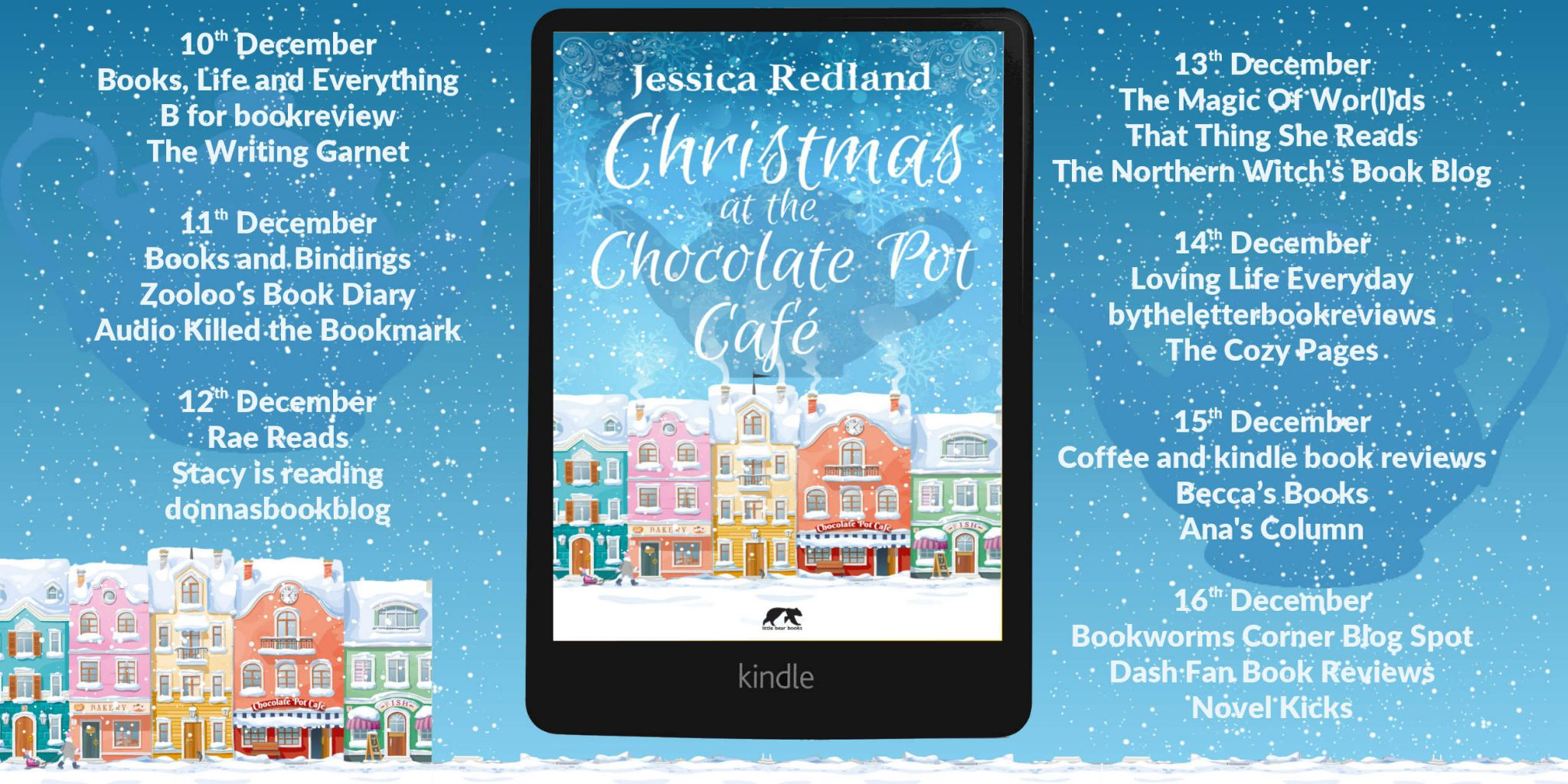 #BookReview of Christmas at the Chocolate Pot Cafe by Jessica Redland @JessicaRedland @rararesources