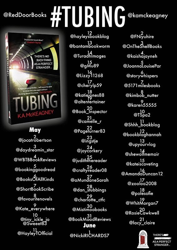 #BookReview of Tubing by K.A McKeagney @kamckeagney @RedDoorBooks #tubing