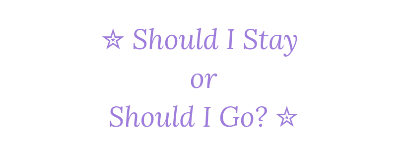 Should I Stay or Should I Go? 20th April 2019 #Goodreadsclearout