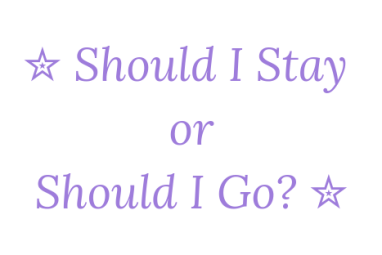 Should I Stay Or Should I Go? 4th May 2019 #Goodreadsclearout