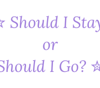 Should I Stay Or Should I Go? 8th June 2019 #Goodreadsclearout