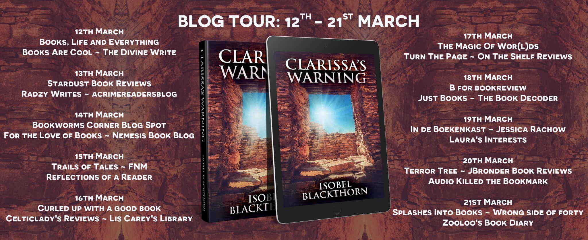 #BookReview of Clarissa's Warning by Isobel Blackthorn @IBlackthorn @rararesources