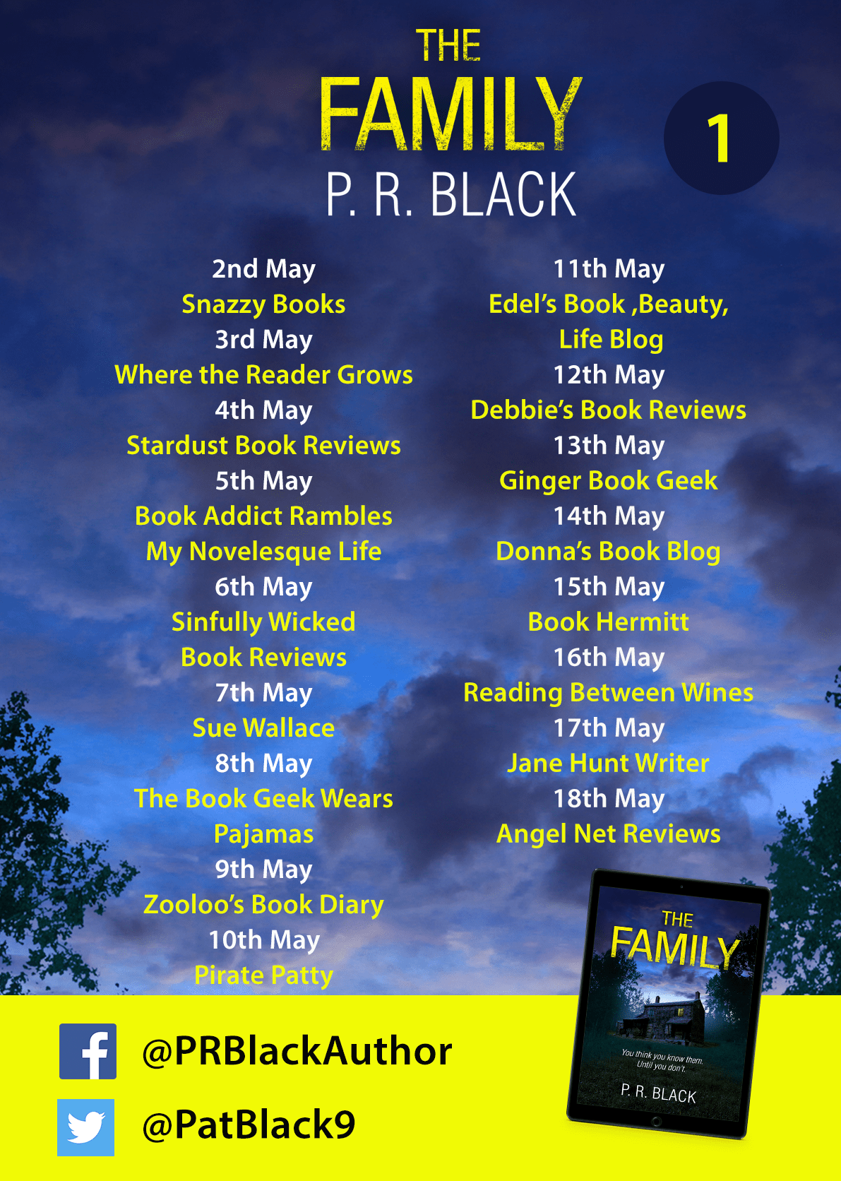 #BookReview of The Family by P.R Black @PatBlack9 @aria_fiction #Netgalley #TheFamily
