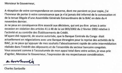 RDC : Dossier BIAC, Charles Sanlaville se dissocie de la démarche illégale des Blattner [Document] 18
