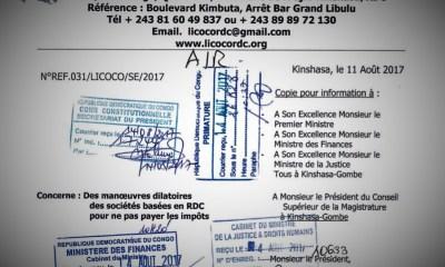 RDC : Plus d'un milliard de dollars échappés du Trésor public en 2016 [LICOCO]
