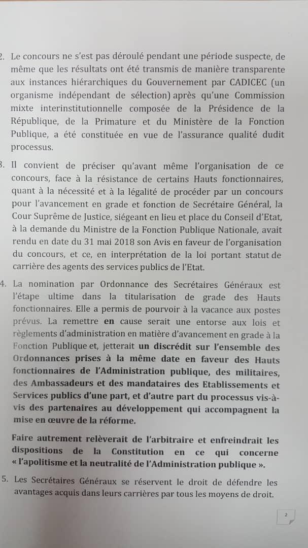 RDC : appel au respect des droits acquis des secrétaires généraux nommés ! 3