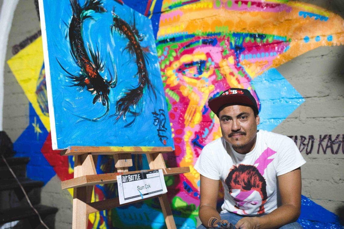Sun Cok, ganador de la primera edición del Art Battle Lima.jpg