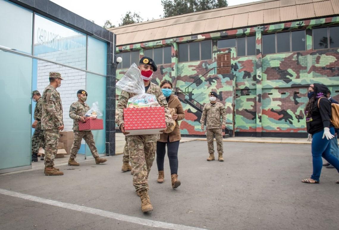 Donación Canastas Ejército