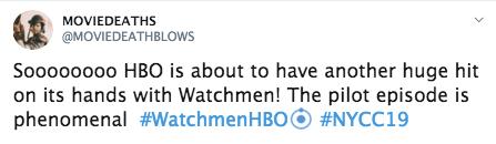 reacciones watchmen