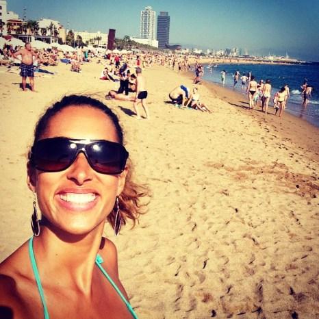 Soaking up the rays - beach day Barceloneta