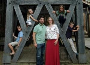 Jerry Aulenbach family at Fort Edmonton Park