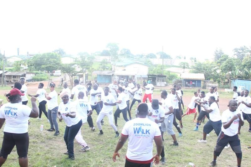 Zoomlion staff walk for health