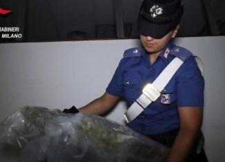 Carabinieri Sequestrano di droga zona Corvetto