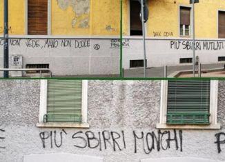 corvetto scritte sui muri violente