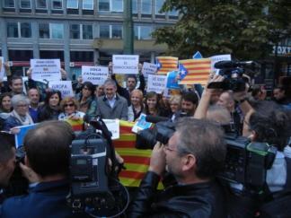 Protesta al consolato della Catalogna