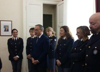 Marcello Cardona , questore di Mioano e la sua squadra