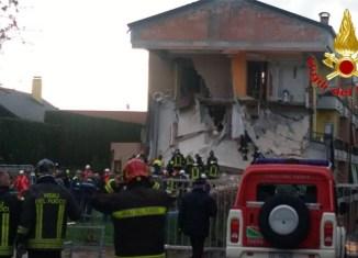 Vigili del fuoco a Rescaldina
